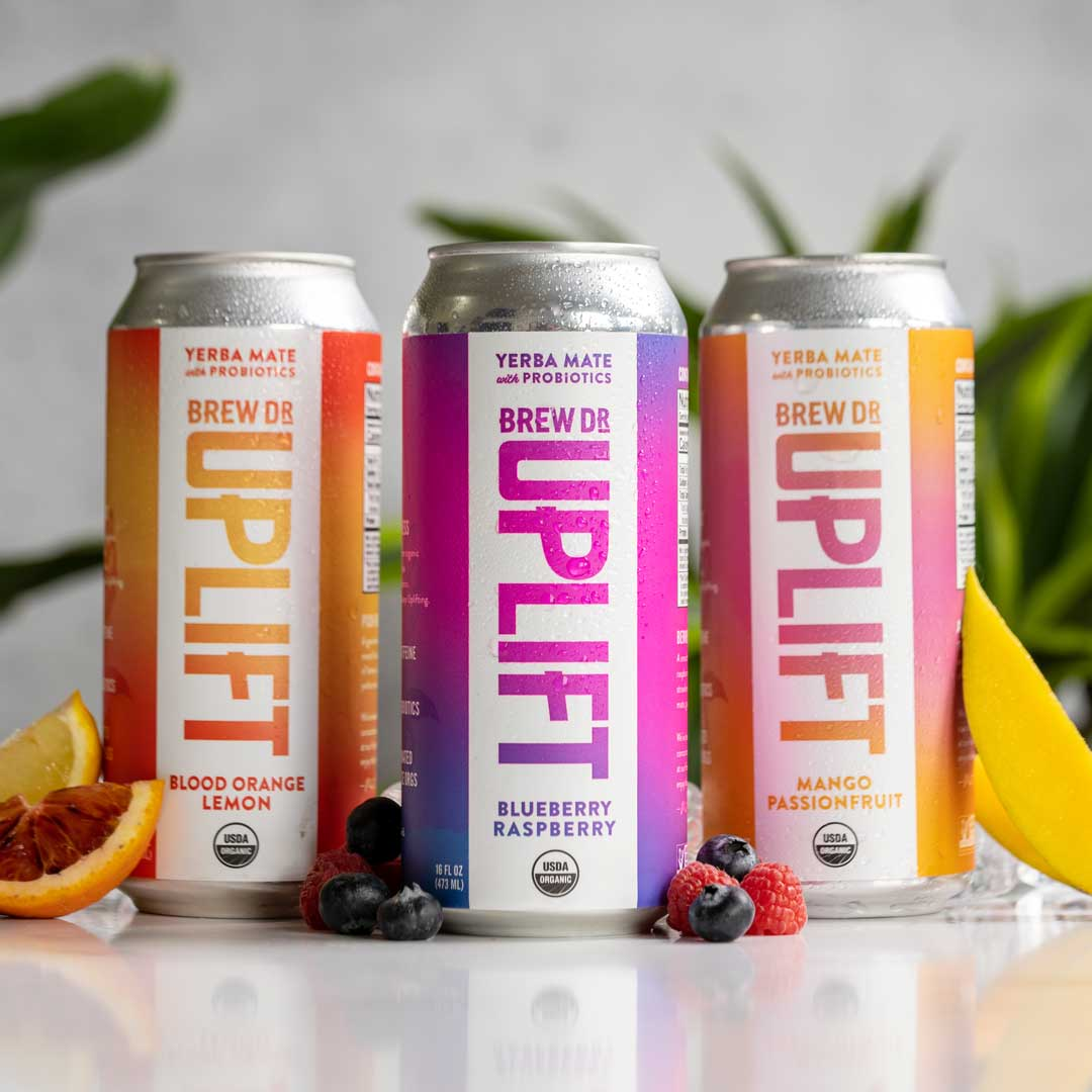 Brew Dr. Uplift - Three energizing flavors grouped together