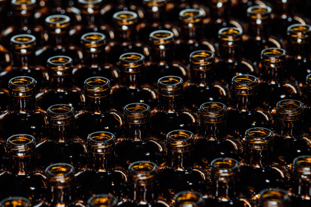 bottles kombucha brewing