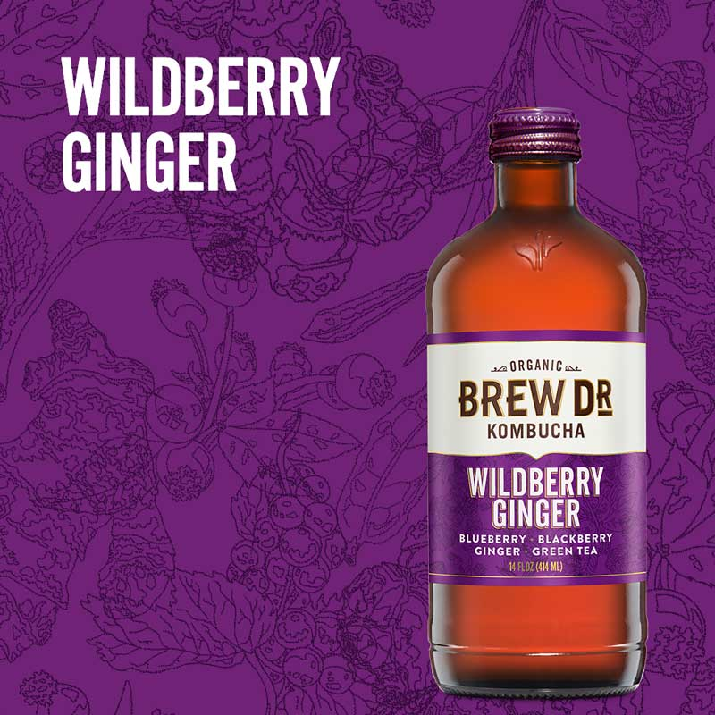 Wildberry Ginger Kombucha